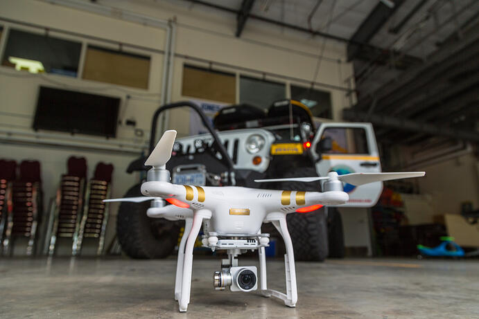 Drones used in search and rescue